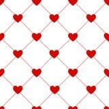 情人节无缝的心脏样式传染媒介 免版税图库摄影