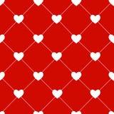 情人节无缝的心脏样式传染媒介 库存照片