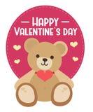 情人节玩具熊 向量例证