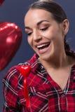 情人节的红色心脏标志 免版税库存图片