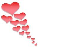 情人节背景样式心脏和光和星 图库摄影