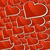 情人节背景的心脏。+ EPS10 库存图片