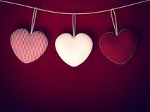 情人节背景的心脏 库存照片