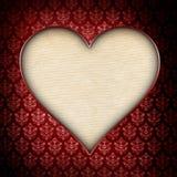 情人节背景-在被仿造的背景的心脏 免版税库存照片