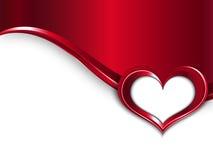 情人节设计 传染媒介与心脏波浪和框架的金属背景您的文本的 免版税库存图片