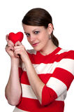 情人节重点妇女 免版税库存照片