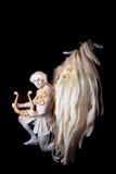 情人节,有竖琴的丘比特人 库存图片