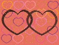 情人节,背景,在爱题材的墙纸拼贴画  向量例证