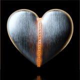 情人节贺卡设计的Beld心脏在黑色 库存图片