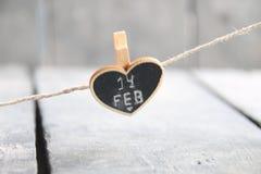 情人节2月14日-,背景的被弄脏的照片 免版税库存照片