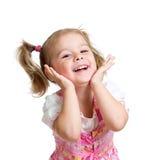 情感儿童小女孩画象  免版税库存图片