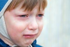 情感儿童悲伤 免版税库存图片