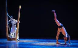 情感冲突差事到迷宫现代舞蹈舞蹈动作设计者玛莎・葛兰姆里 库存图片