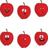 情感动画片红色苹果设置了011 皇族释放例证