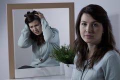 情感地不稳定的妇女 免版税库存图片