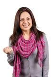 情感女性纵向年轻人 免版税库存照片