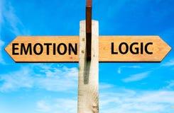 情感对逻辑 免版税库存照片