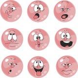 情感微笑桃红色彩色组005 向量例证