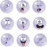 情感微笑紫罗兰色彩色组007 向量例证