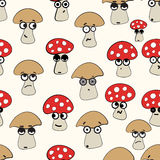 情感无缝的蘑菇 库存图片