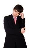 情感的生意人 免版税库存照片