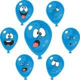 情感蓝色气球设置了003 皇族释放例证