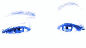情感运动眼睛和eyebrowes 股票录像