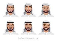 情感阿拉伯人字符集  皇族释放例证