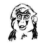 情感猴子抽象 库存照片