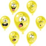情感黄色气球设置了002 库存例证