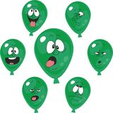 情感绿色气球设置了006 库存例证