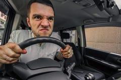 情绪人 汽车尖叫的司机在某人的tr的 图库摄影