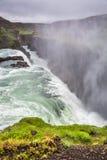 惊人古佛斯瀑布瀑布,冰岛 库存图片