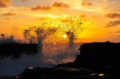 惊人夏威夷日出 库存图片