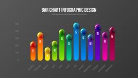 惊人的企业infographic介绍传染媒介例证概念 公司营销逻辑分析方法数据报告创造性的设计l 库存例证