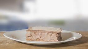 惊人的冰淇凌用在板材的奶蛋烘饼 图库摄影
