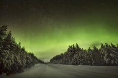 惊人的北极光极光Borealis 免版税图库摄影