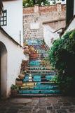 惊人的台阶在Szentendre 免版税库存图片