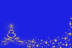 惊人的圣诞树剪影和发光 免版税库存图片