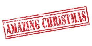 惊人的圣诞节红色邮票 库存图片