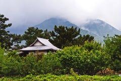 惊人的在Shimabara的禅宗风景寺庙屋顶,日本 库存照片