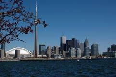 惊人的城市地平线多伦多 免版税库存照片