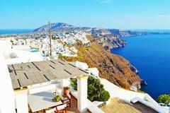 惊人的外型圣托里尼海岛观点希腊 免版税图库摄影