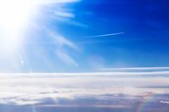 惊人的多云天空视图 免版税库存图片