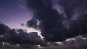 惊人的多云日出时间间隔 影视素材