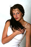 惊人的妇女年轻人 图库摄影