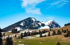 惊人的山风景在巴伐利亚 图库摄影