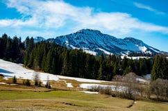 惊人的山风景在巴伐利亚 免版税库存照片