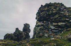 惊人的岩层, Londrangar, Snaefellsness半岛,冰岛 库存照片