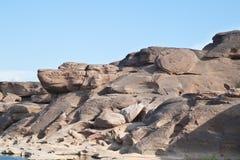 惊人的峡谷自然岩石 免版税库存照片